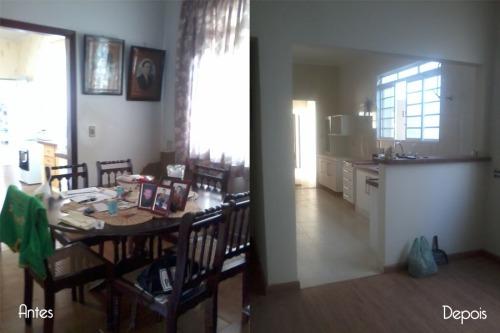 Copa - integração entre a copa e cozinha através de uma abertura entre os ambientes
