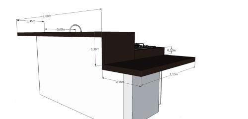 Medidas das pedras da cozinha