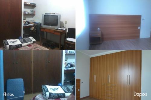 Suíte - Ampliação do dormitório criando um grande nicho no qual está inserido o novo guarda roupas. Mobiliário da Jafer > http://www.jaferarmariosecozinhas.com.br/