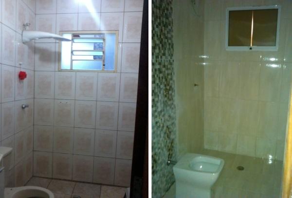 Banheiro: Antes e Depois